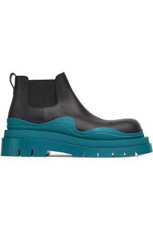 Bottega Veneta Tire Leather Chelsea Boots