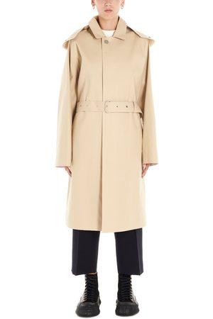 Jil Sander Women Trench Coats - WOMEN'S JPPP475309WP246000239 BEIGE COTTON TRENCH COAT