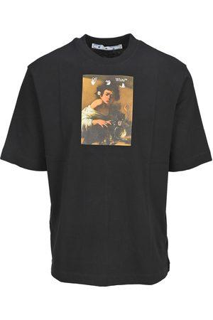 OFF-WHITE Caravaggio-print short-sleeve T-shirt