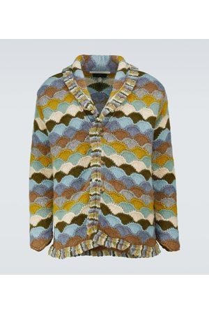 Alanui Men Cardigans - Rainbow Mountain wool-blend cardigan
