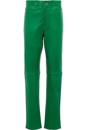 Stouls Women Leather Pants - Exclusive to Mytheresa – Terry high-rise leather pants