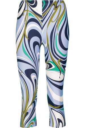 Emilio Pucci Women Leggings - Printed high-rise cropped leggings
