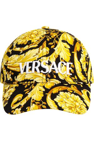 VERSACE Cotton hat with Baroque print
