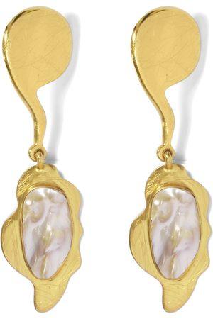 Liya Women Earrings - Tiger Pearl Earrings