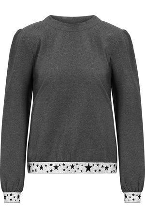 Nooki Women Sweatshirts - Jenna Star Band Sweatshirt - Charcoal