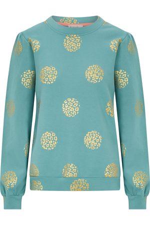 Nooki Women Sweatshirts - Jessica Foil Print Sweatshirt - Duckegg
