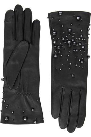 AGNELLE Marilyn embellished leather gloves