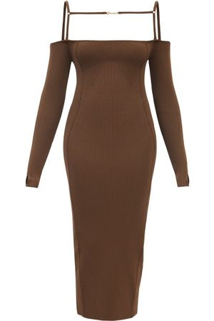 Jacquemus Women Knitted Dresses - Sierra Ribbed-knit Midi Dress - Womens