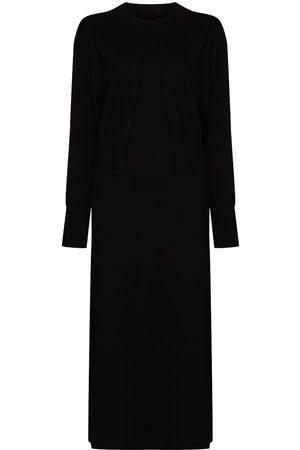 Gia Studios Wool dress and cardigan set