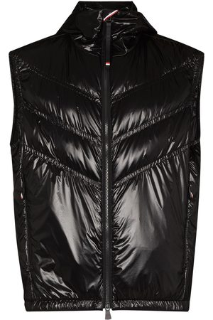 Moncler Men Gilets - Chevron-quilted padded gilet
