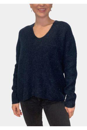 Mos Mosh Women Jeans - Thora V Neck Knit Salute Navy