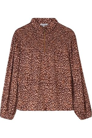 LILY AND LIONEL Alexa Printed Top - Vintage Animal Bronze