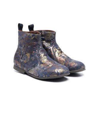 PèPè Girls Ankle Boots - Floral-print ankle boots