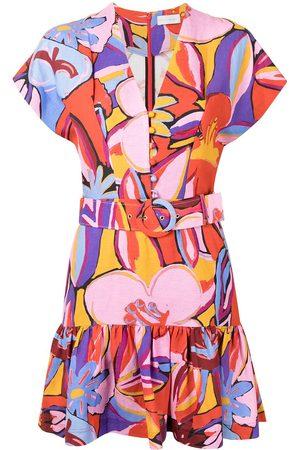 Rebecca Vallance Positano graphic-print mini dress - Multicolour