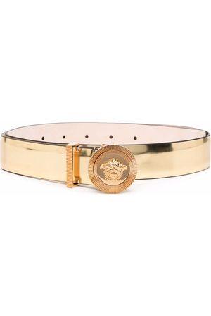 VERSACE Women Belts - Medusa-plaque metallic belt