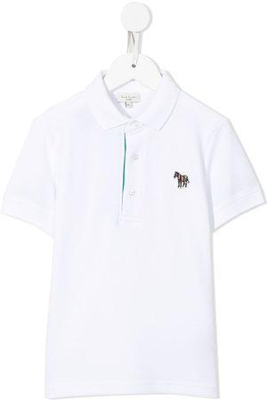 Paul Smith Zebra-patch short-sleeve cotton polo shirt