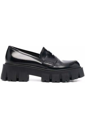 Premiata Chunky sole leather loafers