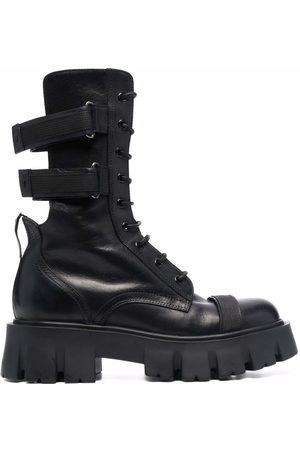 Premiata Women Lace-up Boots - Cut out-detail lace-up boots