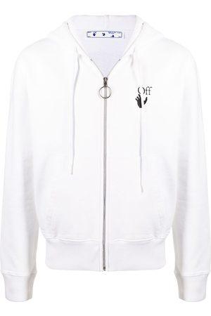 OFF-WHITE Logo zip-up hoodie