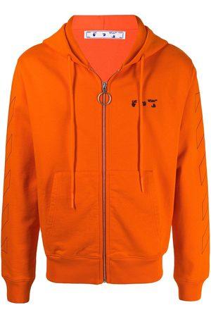 OFF-WHITE Men Hoodies - Diagonals zip-up hoodie