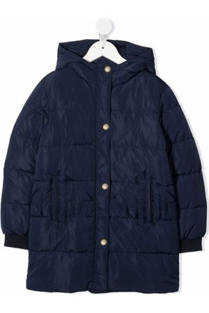 Chloé Logo-embroidered hooded puffer jacket