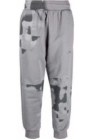 A-cold-wall* Men Sweatpants - Watercolour-print cotton track pants - Grey