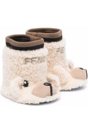 Fendi Teddy bear booties - Neutrals
