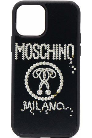 Moschino Logo-studded iPhone 12/12 Pro case