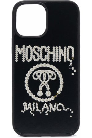 Moschino Phones Cases - Logo-studded iPhone 12 Pro Max case