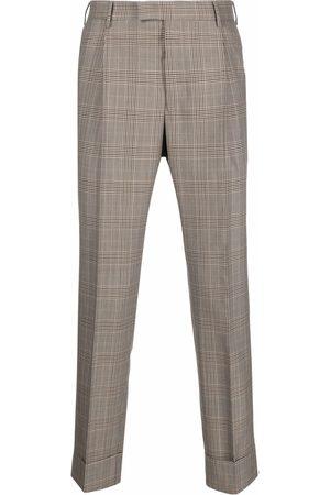 PT01 Men Chinos - Plaid-check print trousers - Neutrals