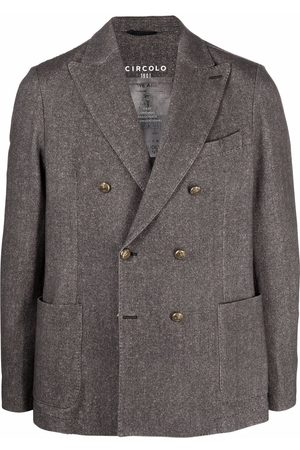 Circolo Men Blazers - Double-breasted tailored jacket - Grey