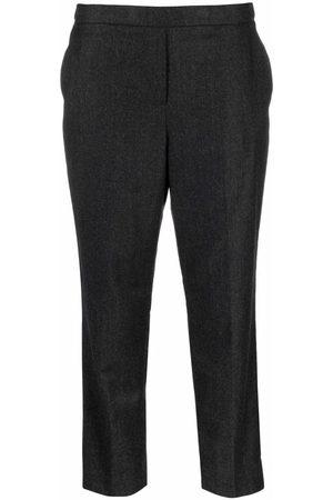 THEORY Women Pants - Cropped virgin-wool trousers - Grey