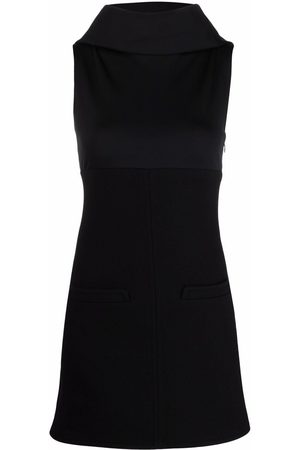 Courrèges Panelled hooded mini dress