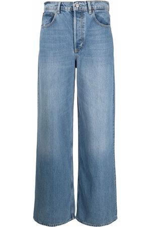 Boyish Jeans Women High Waisted - High-rise wide-leg jeans