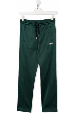 Diesel Sweatpants - TEEN logo-print drawstring track pants