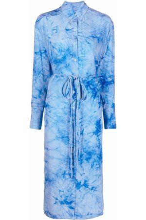 PROENZA SCHOULER WHITE LABEL Women Casual Dresses - Tie-dye silk shirtdress
