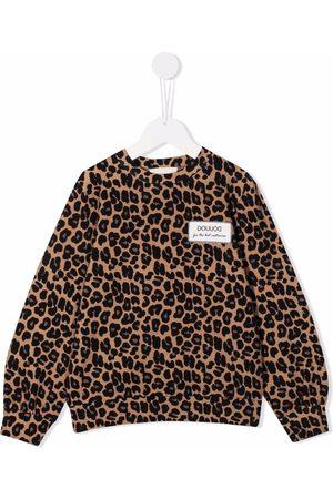 DOUUOD KIDS Leopard print sweatshirt