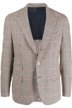 ELEVENTY Houndstooth pattern wool blazer