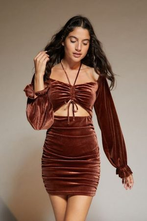Urban Outfitters Women Strapless Dresses - UO Fran Off-The-Shoulder Dress