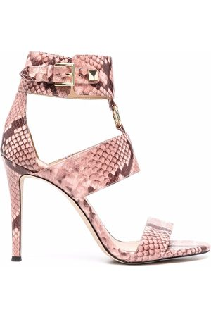 Michael Kors Women Sandals - Amos snakeskin-effect leather sandals