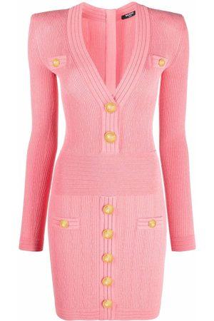 Balmain Women Party Dresses - V-neck mini dress