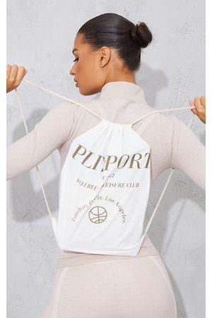 PRETTYLITTLETHING Women Purses - Taupe Sport Drawstring Bag