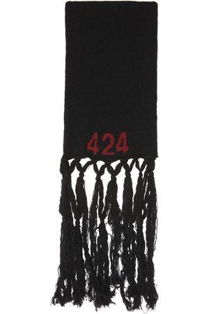 424 FAIRFAX Men Scarves - Black Alias Boiled Wool Scarf