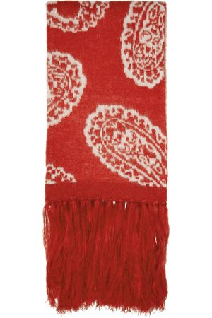 424 FAIRFAX Men Scarves - Red Paisley Scarf