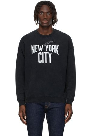 R13 Men Sweatshirts - Black NYFC Oversized Sweatshirt
