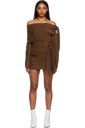 ALEKSANDRE AKHALKATSISHVILI Knotted Mini Dress