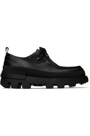 Moncler Men Formal Shoes - Black Mon Wallabee Oxfords