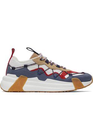 Moncler Men Sneakers - White & Navy Compassor Sneakers