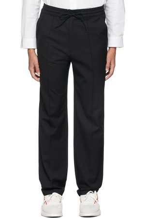Y-3 Men Stretch Pants - Refined Wool Stretch Straight Trousers