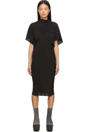 Rick Owens Women Midi Dresses - Black Silk Seb Dress